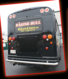 Raging Bull Bus Limousine Serving Fox Cities, Limo Bus in Wisconsin