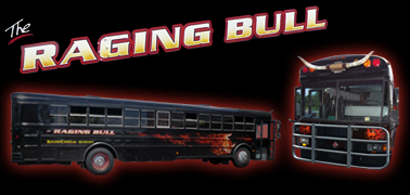 Raging Bull Party Bus, Limo Bus, Bus Limos, Limousines