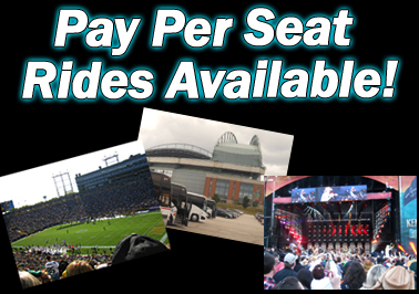 Pay Per Seat Rides Available!